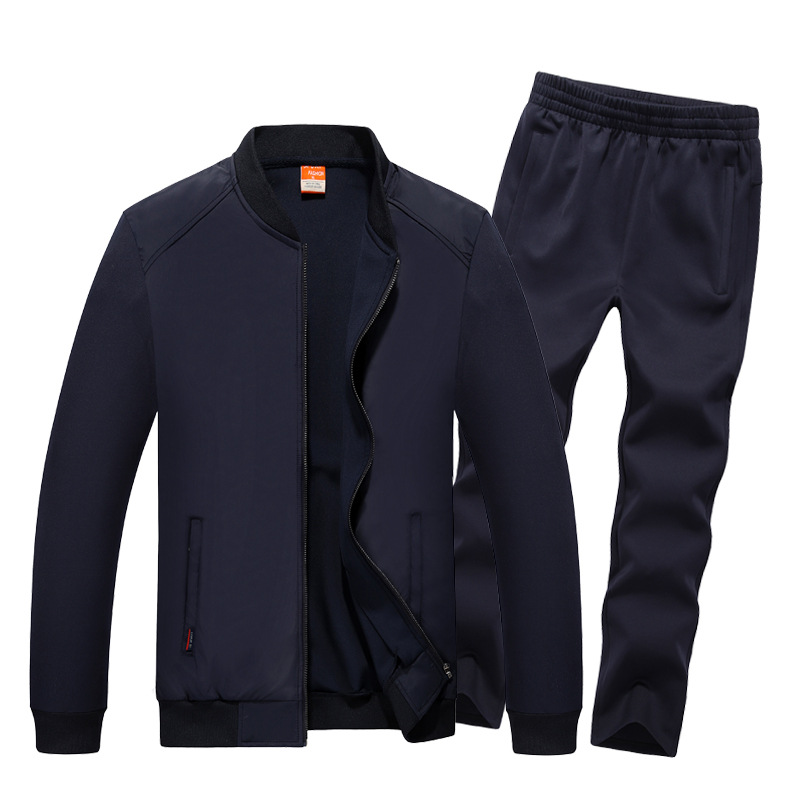 AmberHeard 2017 Fashion Spring Autumn Sporting Suit Men Set Jacket Pant Sweatsuit 2 Piece Set Sportswear