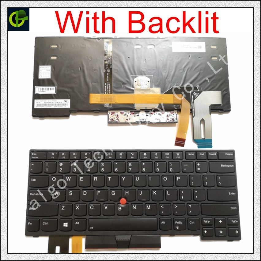 New Original English Backlit Keyboard for Lenovo Thinkpad E480 E485 L480 L380 T490 E490 E495 yoga