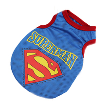 Free Shipping Pet Clothes Terylene costume dog Superman vest cosplay costume dog summer clothes pechera para jersey perro X009 free shipping clothes pet dog clothes summer blue vest terylene small dog perros mascotas accesorios ropa perro verano x060