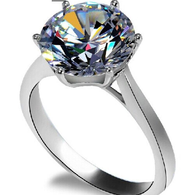 Real Gold Crown Design Big Ring Engagement Superb Quality 4Carat ...