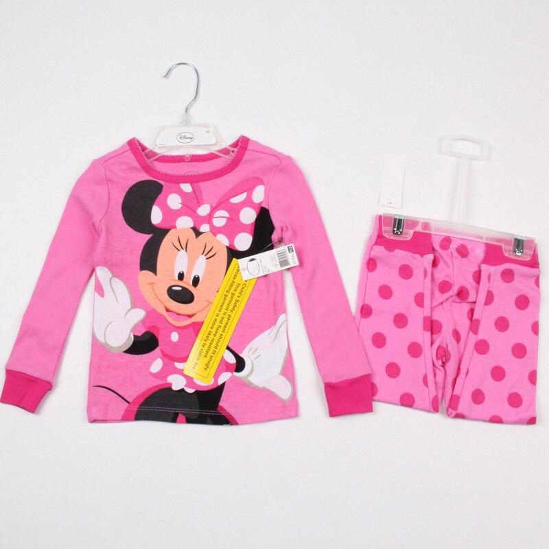 Free Shipping - new arrived kids/girls 100% cotton cartoon pajamas(MOQ: 1 set)