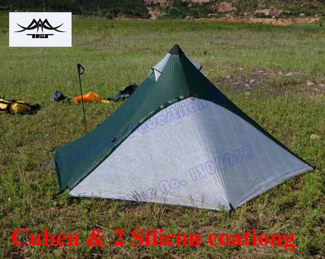 Silicon coating TFS Tipi tent Cuben version 4 seasons 2 resident 2 layer professional outdoor c&ing & Silicon coating TFS Tipi tent Cuben version 4 seasons 2 resident 2 ...