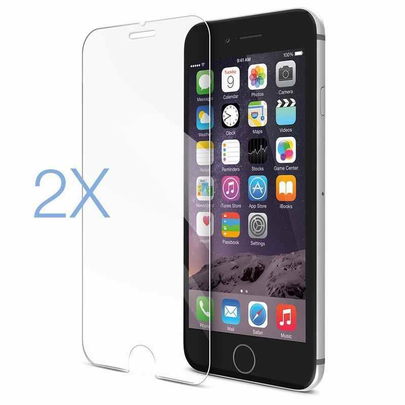 2PCS Film Tempered Glass Screen Protector Protection en Verre trempe ecran For iphone6 iphone 6 S 6S 7 8 Plus 8plus XS Max X XR