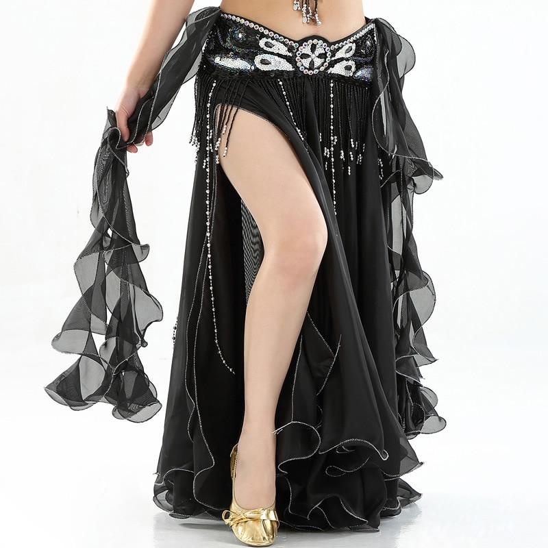 Belly Dance Skirts Women 2018 Dancing Long Maxi Skirts Lady Sexy Oriental Belly Dance Skirt Bellydance Skirt(Without Belt)