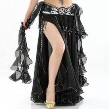 Brzucha spódnica do tańca s kobiety 2018 taniec długie długie spódnice lady Sexy Oriental Belly spódnica do tańca brzucha spódnica do tańca (bez paska)