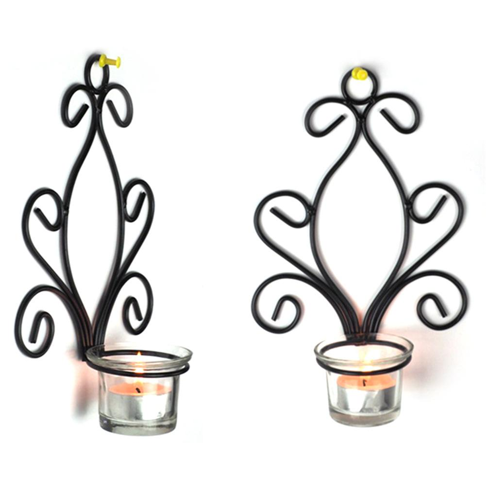 2pcs/set European Style Wall mounted Candle Holder Flower ...