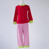 Macio crianças roupa dos miúdos pijamas de algodão desgaste do bebê da alta qualidade de natal por atacado
