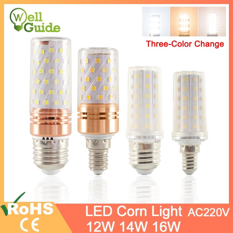 GreenEye E27 LED Bulb E14 LED Lamp 3W 12W 14W 16W SMD2835 AC 220V 240V Corn Bulb Chandelier Candle LED Light For Home Decoration
