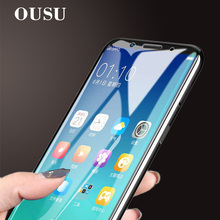 OUSU Full Coverage Tempered Glass For MEILAN E3 6T A5 5S Note8 Note9 Phone Screen Protector Protective Film meizu x8