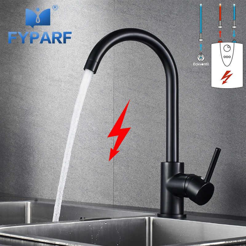 fyparf mixer kitchen faucet tap low pressure kitchen mixer water tap kitchen sink faucet black tap mixer for kitchen taps brass