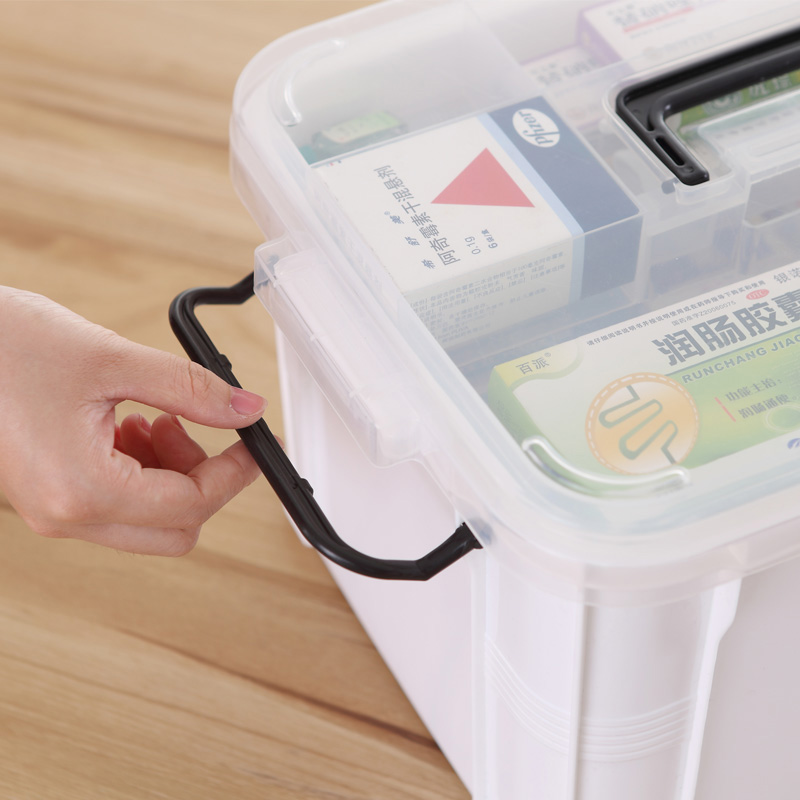 Hot Portable Medicine Chest Cabinet Health Care Plastic Drug First Aid Kit  Box Storage Boxes Drawers Family Home Accessories
