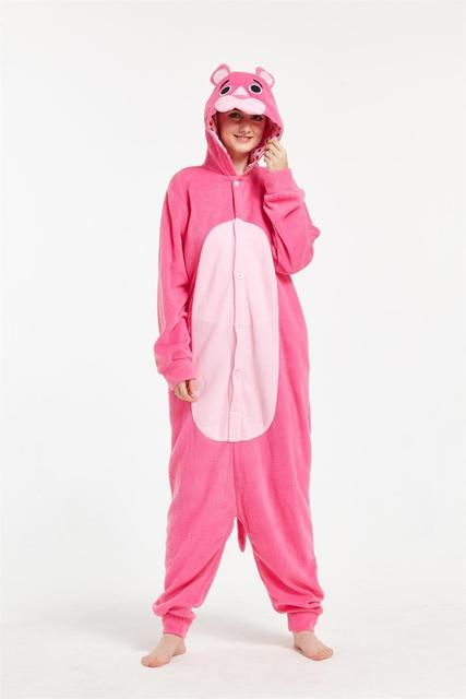 0fcde3c48 Adult Cartoon New Leopard Pink Panther Onesie Anime Cosplay Costumes ...