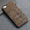 Phone Case for iPhone 5s Natural Genuine Novetly Walnut Carving Wood Slice and Durable Plastic Edges Case for iphone 5S SE