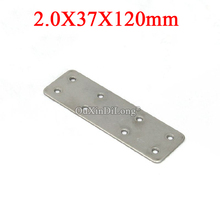 NEW 20PCS 304 Stainless Steel Flat Angle Corner Braces Furniture Connecting Fittings Board Frame Support Brackets 2.0X37X120mm