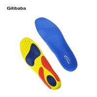 Walking Boxing Running Sport Insoles Shock Absorption Pads Silicone Insoles Foot Care For Plantar Fasciitis Heel