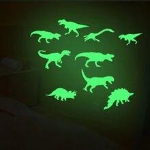 SAILEROAD 9 teile/beutel Kühlen Dinosaurier Leuchtende Aufkleber Stereo 3D Fluoreszierende Aufkleber Lustige Aufkleber Glow In The Dark Sterne Für Kinder