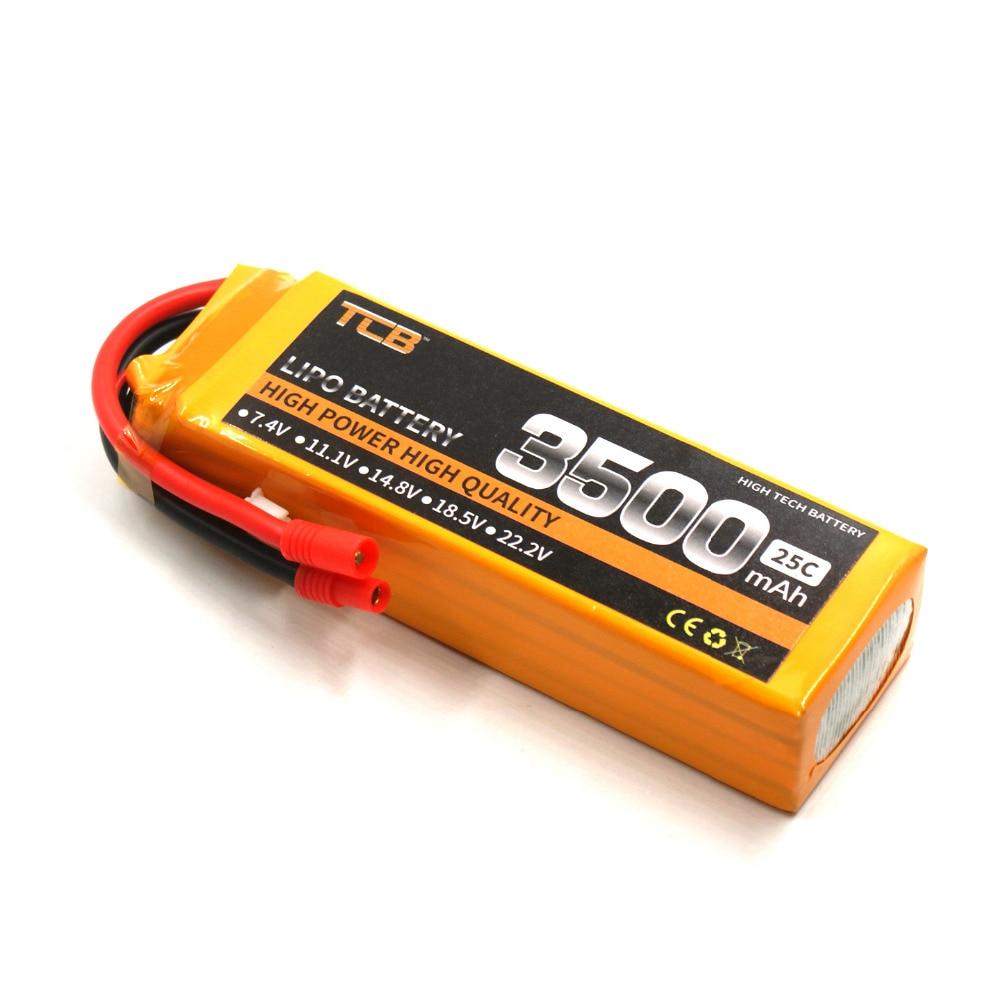 TCB RC LiPo battery 14.8V 3500mAh 25C 4S for RC Airplane Drone 4S Lipo batteria cell AKKU tcb rc lipo battery 22 2v 2200mah 25c 6s rc airplane batteria rechargeable akku drone car free shipping