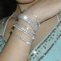 1 Rows Shiny Full rhinestone crystal elastic bracelets Charm Silver plated Wristband Cuff bangles for women wedding jewelry