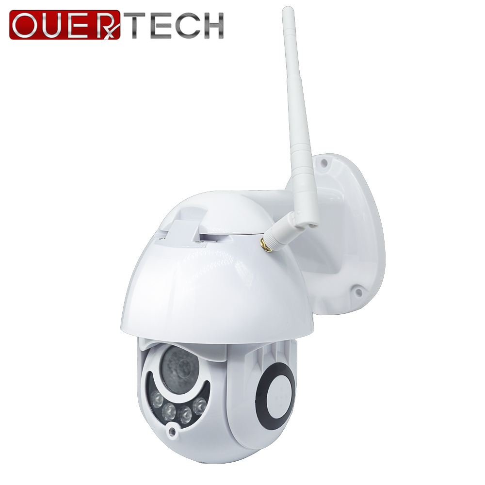 Caméra IP extérieure OUERTECH PTZ WiFi 1080P détection de mouvement double lumière jour et nuit caméra de sécurité PTZ fente pour carte SD caméra CCTV