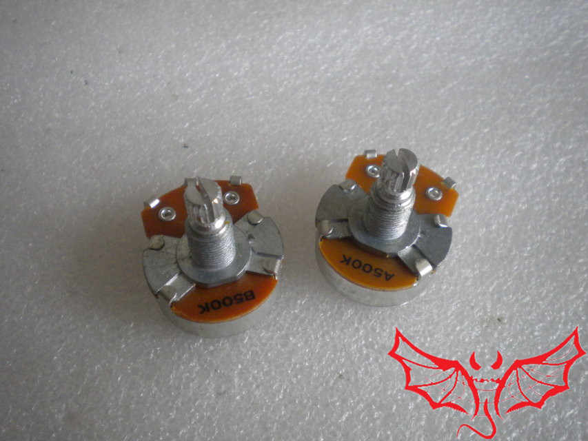 Piece Hanmosen Alpha A500K/B500K Big Potentiometer(POT) For Electric  Guitar/Bass MADE IN KOREA