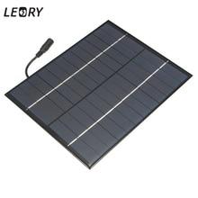 LEORY 12V 5.2W Mini Solar Panel Polycrystalline Solar Cells Silicon Epoxy Solar DIY Module System Battery Charger + DC output