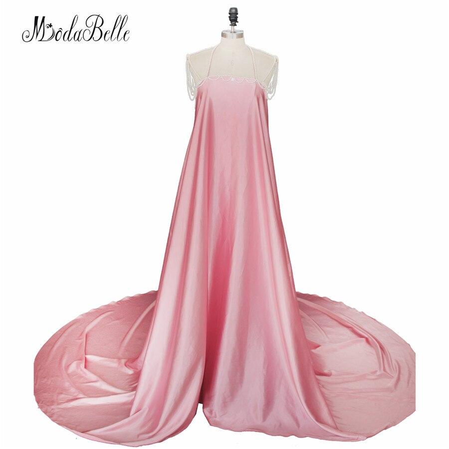 2017 Sexy dos nu perles maternité Maxi robe de soirée robes formelles longue enceinte robes de soirée accessoires de photographie séance Photo