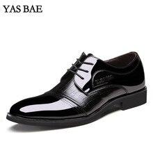 Мужской китайский бренд, итальянский модный стиль, кожаная модельная офисная официальная обувь, лакированная кожа, черный, коричневый, дешевая обувь для мужчин