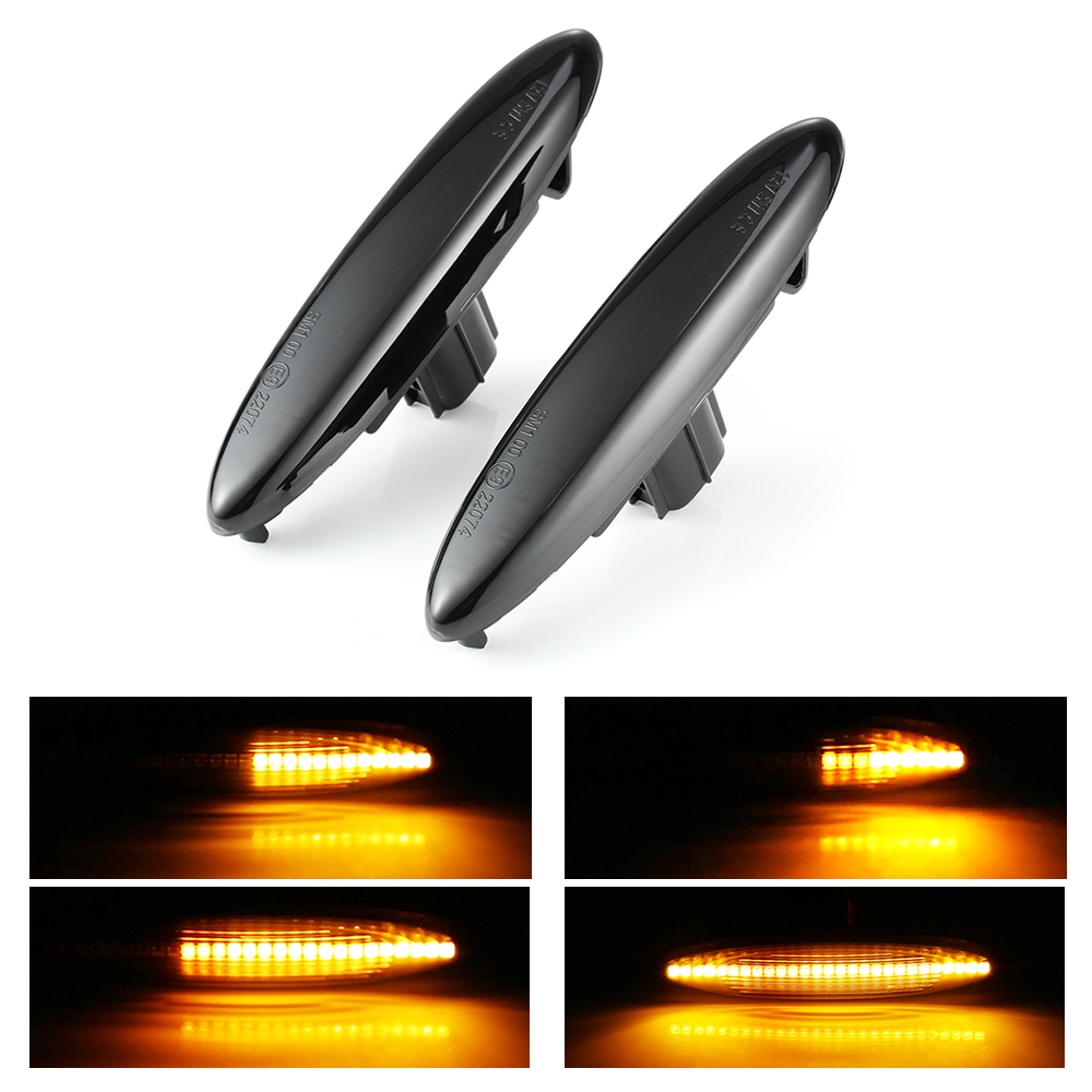 2 pcs LED Dynamic Side Marker Turn Signal Light For Lexus IS250 IS350 SC430 Sequential Blinker Led For <font><b>Highlander</b></font> Soarer Kluger image