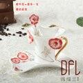 Farbigen becher emaille porzellan kaffee disc löffel set Europäische hochwertigem bone China ehe geburtstagsgeschenk rosemugs-in Kaffeezubehör-Sets aus Heim und Garten bei