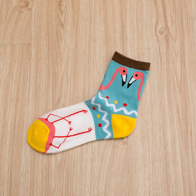 5 Pairs Cute Flamingo Socks