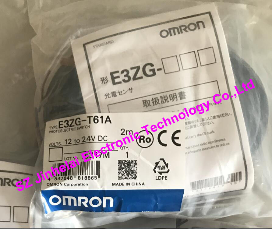 E3ZG-T61A  New and original OMRON  Photoelectric switch  12-24VDC  2M 100% new and original e3x na11 e3x zd41 omron photoelectric switch 12 24vdc 2m