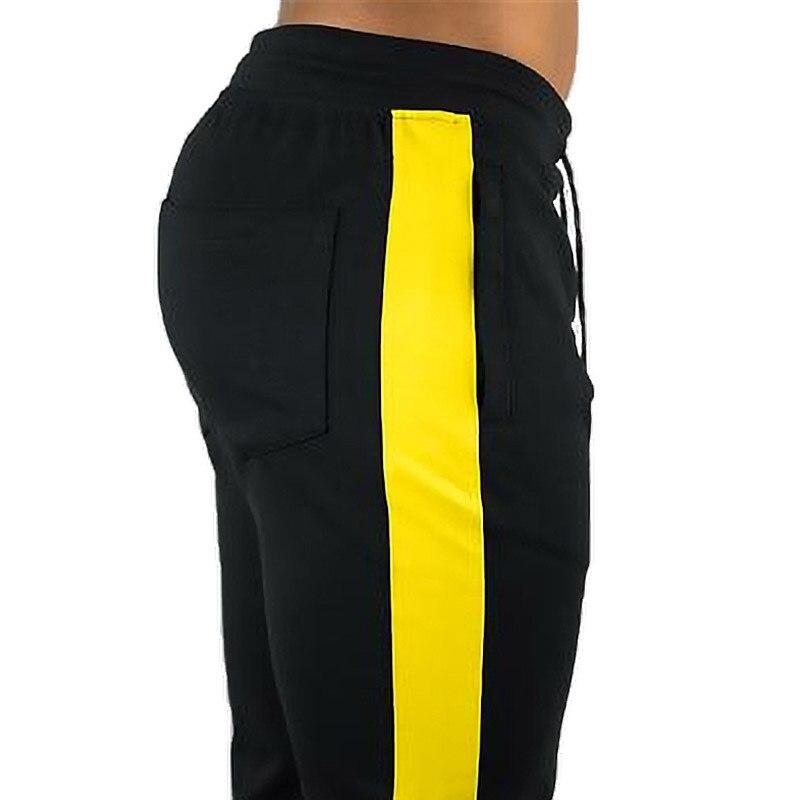 ENJPOWER New Men Pants Hip Hop Fitness clothing Joggers Sweatpants Side stripe classic fashion Streetwear Track Pants Trousers