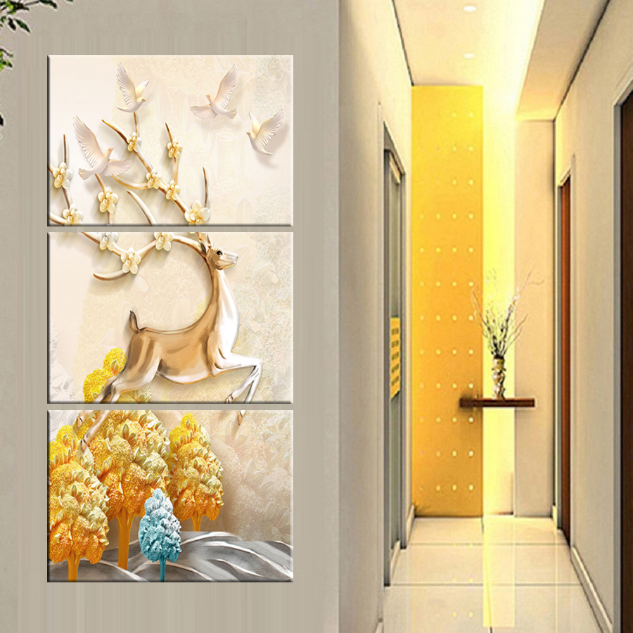 HD print Canvas Painting morden print Art Animal Wall Picture Home Decor Living Room Bedroom No Frame Deer Wall Painting Modern