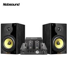 Nobsound CS1020 Wood 100W 1 Pair 6.5 inches Bookshelf Speakers 2.0 HiFi Column Sound Bluetooth Vacuum Tube Integrated Amplifier