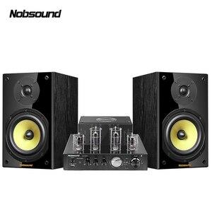 Image 1 - Nobsound CS1020 Wood 100W 1 Pair 6.5 inches Bookshelf Speakers 2.0 HiFi Column Sound Bluetooth Vacuum Tube Integrated Amplifier