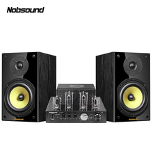 Nobsound CS1020 drewno 100W 1 para 6.5 cali głośniki półkowe 2.0 HiFi kolumna dźwięk Bluetooth rura próżniowa zintegrowany wzmacniacz