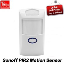 Sonoff PIR PIR2 Wireless Dual Infrared detector Motion Sensor smart Home Smart Security Alarm System for Alexa Google Home(China)