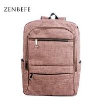ZENBEFE Linen Backpack Preppy Style Women Bag Leisure Packsack Simple Rucksack School Bag For Student Travel