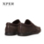 2016 XPER Mens Loafers Pisos Mocasines Hombres Zapatos Slip-on Transpirable Charm Casual Punta Redonda Marrón YM86837BN