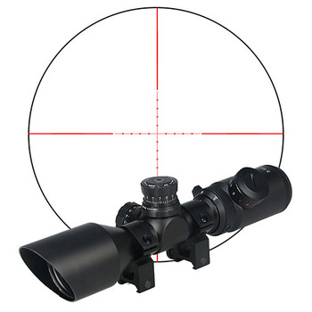 PPT New Arrival 3-9x42 Rifle Scope Illuminated Red or Green Mil-dot For Outdoor Sport Use PP1-0275
