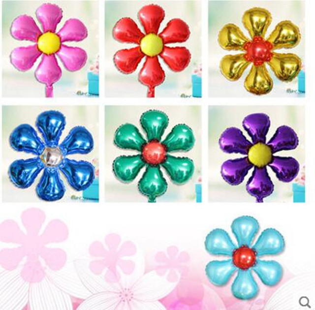 FANTASTIC IDEA Flower Shape 45x45cm Aluminium Foil Birthday Party Balloons, Kids Party Wall Backdrop Decoration, Baby Toys FI-12