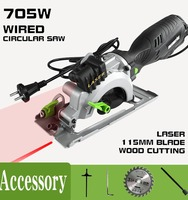 FREE SHIPPING FOR RU hand held wired wooden saw Woodworking Circular Saw 115mm