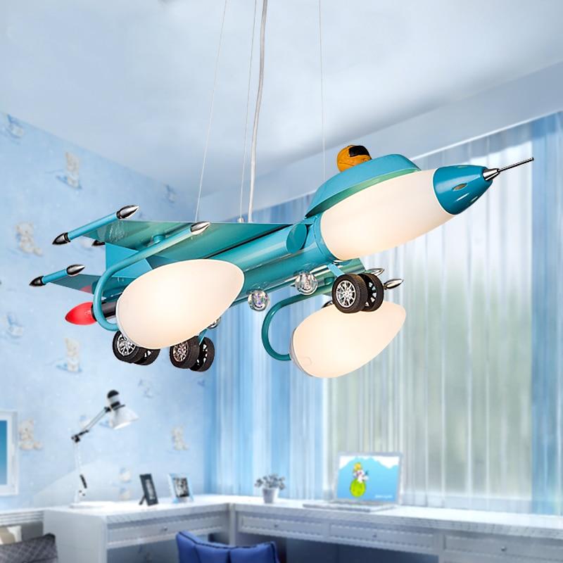Aircraft lights Pendant Lights boys bedroom lights bedroom lights cartoon children's lamps restaurants iron glass ZL436|iron glass|lamps restaurant|pendant lights - title=
