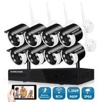 SUNCHAN CCTV System 960P 8ch HD Wireless NVR Outdoor IR Night Vision 1280 960 IP Camera