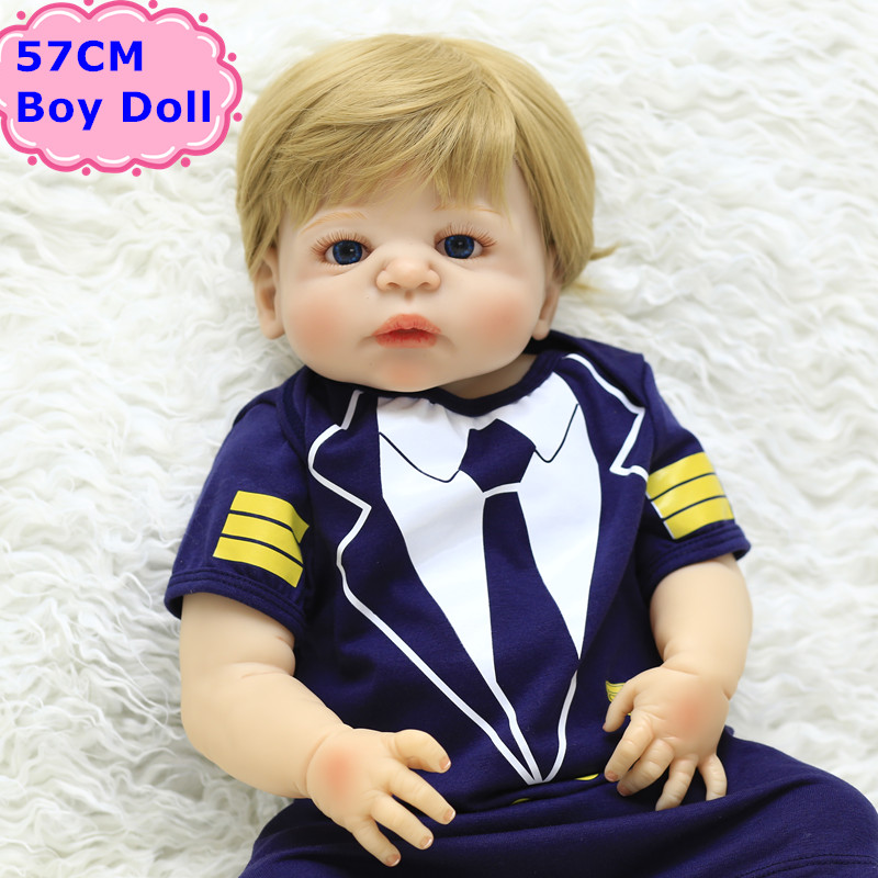 22inch NPK Real Alive Reborn Baby Boy Doll Toy Handmade Full Silicone Bebe Reborn Boneca Baby Kids Bathe Toys Girl Birthday Gift npk collection handmade bjd doll 18 inch girl doll include clothes shoes plastic baby princess doll plaything toy for children