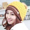 Kesebi 2017 New Hot Fashion Women Korean Lovely Knitting Autumn Winter Caps Hats Female Casual Simple Classic Skullies Beanies