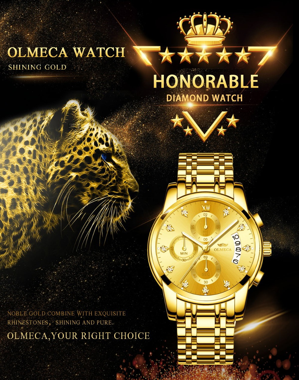 mens watches olmeca relogio masculino