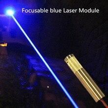 450nm синий лазерный локатор с полностью медным регулируемым фокусным расстоянием модуля