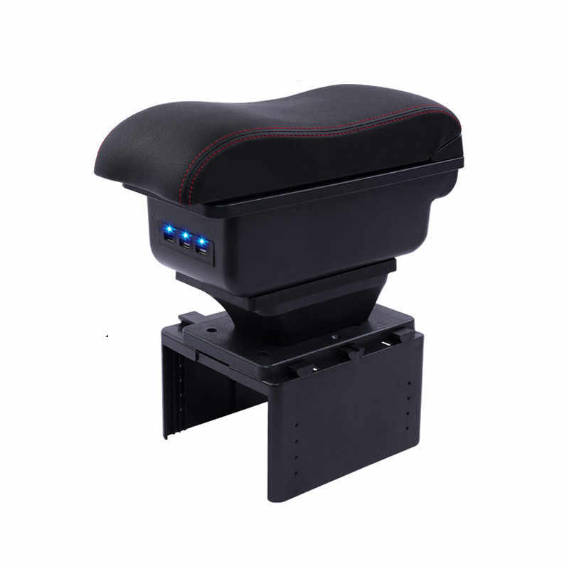 Car Arm Rest Storage Box For Renault/Opel/Ford/Toyota Center Centre Console Rotatable Armrest