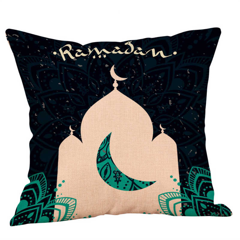 Image 2 - Eid Al Fitr Line Pillowcases Cover Super soft fabric Home  Letter Pattern Cushion Throw Bedding Pillow Case Pillow Covers-in Pillow Case from Home & Garden
